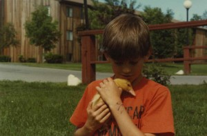 daniel with duckling